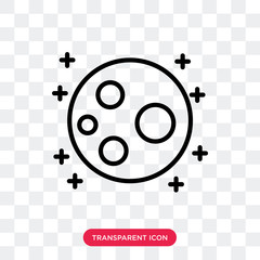 Moon vector icon isolated on transparent background, Moon logo design