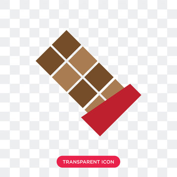 Chocolate vector icon isolated on transparent background, Chocolate logo design