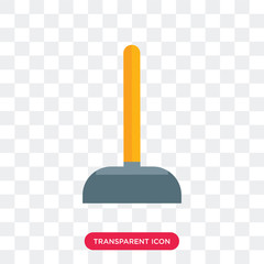 Plunger vector icon isolated on transparent background, Plunger logo design