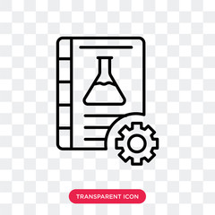 Chemistry vector icon isolated on transparent background, Chemistry logo design