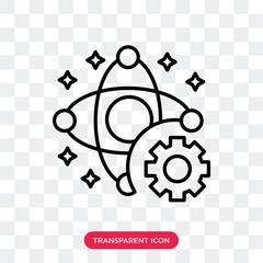 Physics vector icon isolated on transparent background, Physics logo design