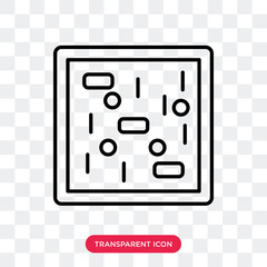 Cell vector icon isolated on transparent background, Cell logo design