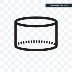 Cylinder shape vector icon isolated on transparent background, Cylinder shape logo design