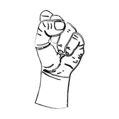 grunge hand up oppose protest demonstration