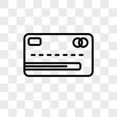 Bank Card vector icon isolated on transparent background, Bank Card logo design
