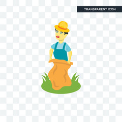 Sack race vector icon isolated on transparent background, Sack race logo design