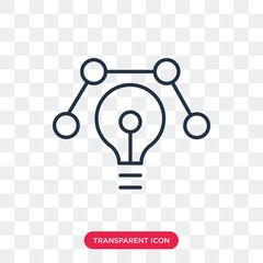 Idea vector icon isolated on transparent background, Idea logo design