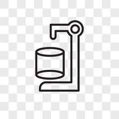 Cylinder vector icon isolated on transparent background, Cylinder logo design