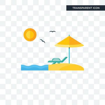 Beach vector icon isolated on transparent background, Beach logo design