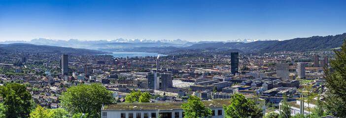 View of Zurich Switzerland