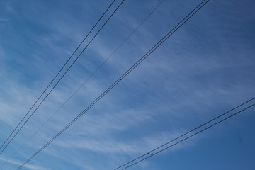 power lines and sky
