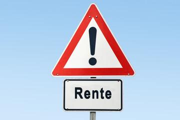 Schild 327 - Rente