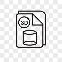3d cube vector icon isolated on transparent background, 3d cube logo design