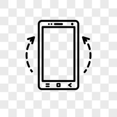 Smartphone vector icon isolated on transparent background, Smartphone logo design