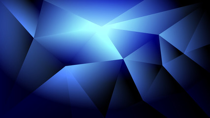 Abstract dark blue light and shade creative polygonal background. Vector illustration.