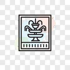 Fountain vector icon isolated on transparent background, Fountain logo design