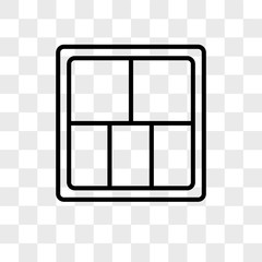 Display vector icon isolated on transparent background, Display logo design