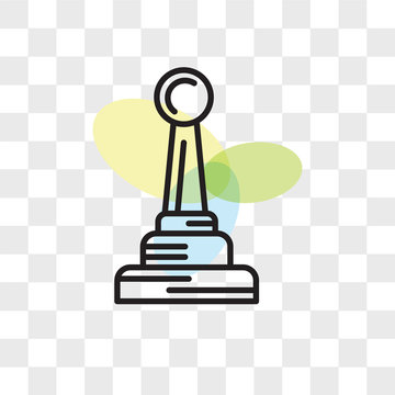 Gearstick vector icon isolated on transparent background, Gearstick logo design