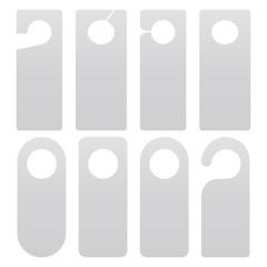 Door hanger set isolated on white background. Vector illustration