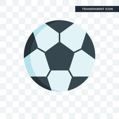 Soccer ball vector icon isolated on transparent background, Soccer ball logo design