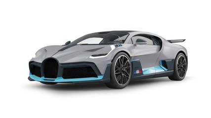 Luxury Sports Car 3D Rendering