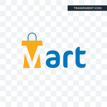 mart vector icon isolated on transparent background, mart logo design
