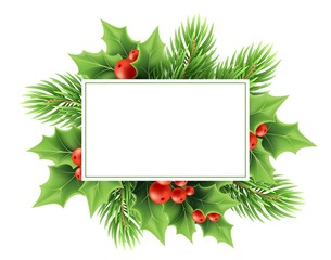 Christmas greeting card vector template