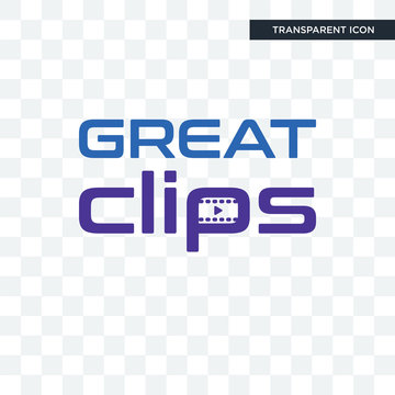 great clips vector icon isolated on transparent background, great clips logo design