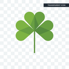 three leaf clover vector icon isolated on transparent background, three leaf clover logo design
