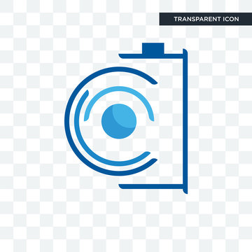 camera vector icon isolated on transparent background, camera logo design