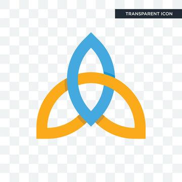 holy trinity vector icon isolated on transparent background, holy trinity logo design