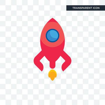 rocketship vector icon isolated on transparent background, rocketship logo design