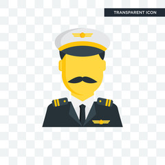 Pilot vector icon isolated on transparent background, Pilot logo design