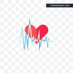 heartbeat vector icon isolated on transparent background, heartbeat logo design