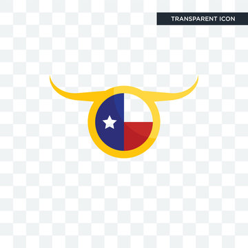 texas flag vector icon isolated on transparent background, texas flag logo design