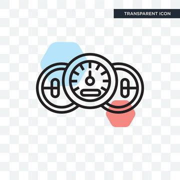 Speedometer vector icon isolated on transparent background, Speedometer logo design