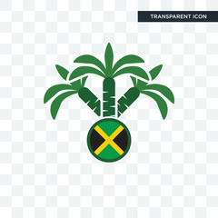 jamaican vector icon isolated on transparent background, jamaican logo design