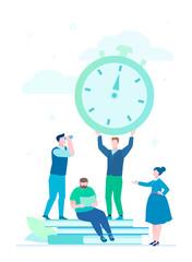 Time management - flat design style illustration