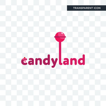 candyland vector icon isolated on transparent background, candyland logo design