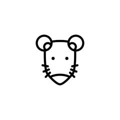 rat icon vector