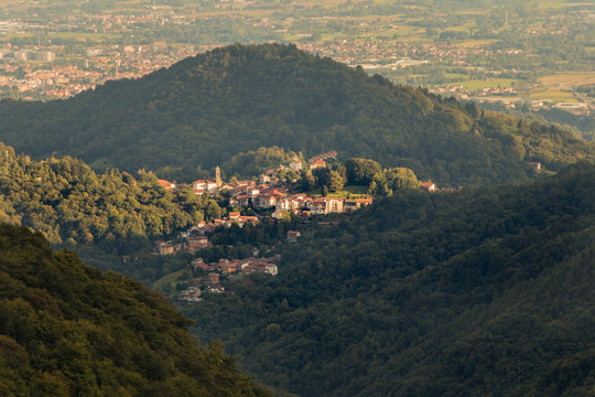 Comund di Favaro view from the Santuario di Oropa Sanctuary Biella Piedmont Italy