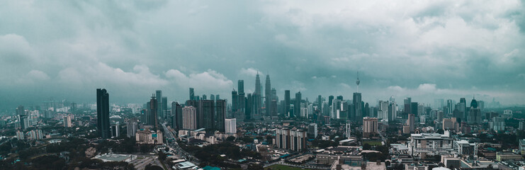 Aerial view of Kuala Lumpur during hazy day. Kuala Lumpur is the capital city of Malaysia