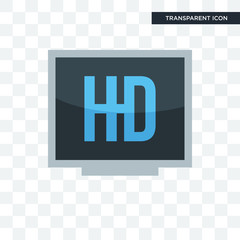 hi def vector icon isolated on transparent background, hi def logo design