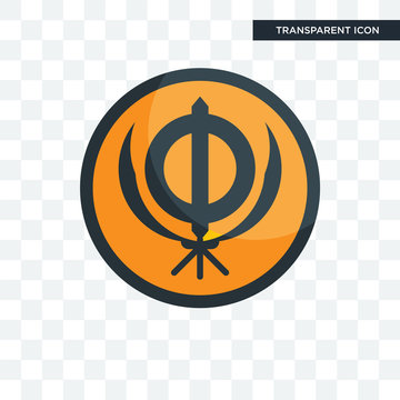 sikhism vector icon isolated on transparent background, sikhism logo design