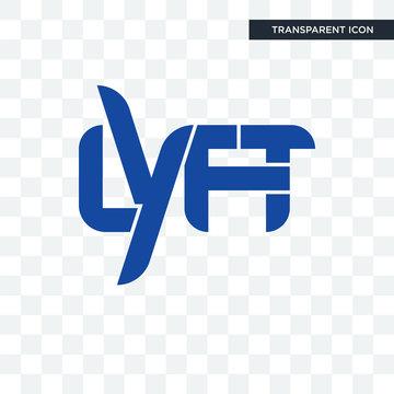 lyft vector icon isolated on transparent background, lyft logo design