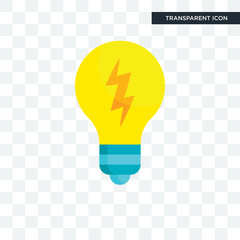 Light bulb vector icon isolated on transparent background, Light bulb logo design