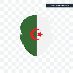 Algeria vector icon isolated on transparent background, Algeria logo design