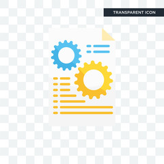 Analytics vector icon isolated on transparent background, Analytics logo design