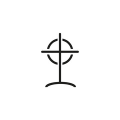 Sight with bead line icon. Target, hunting, killing. Strategy concept. Vector illustration can be used for topics like aiming, shooting, competition