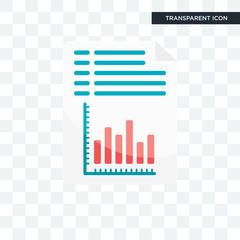 Analytics vector icon isolated on transparent background, Analytics logo design